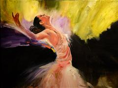 Fantasy art,Impressionism art,People art,oil painting,Dancer's Dream