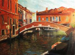 Architecture art,Seascape art,Travel art,oil painting,Venice in the Afternoon