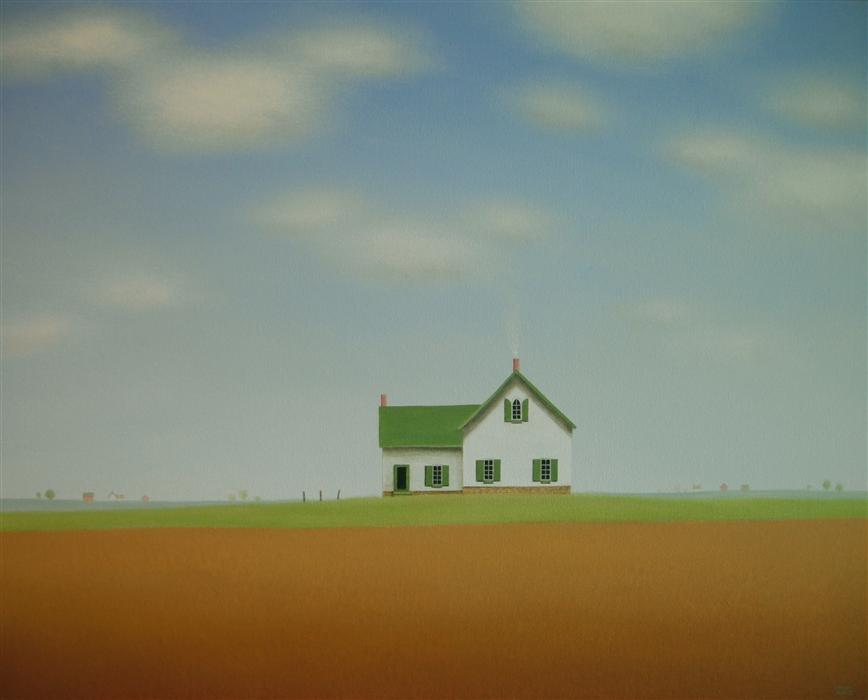 Original art for sale at UGallery.com | A Quiet Country Home by SHARON  FRANCE | $2,050 |  | 24' h x 30' w | ..\art\acrylic-painting-A-Quiet-Country-Home