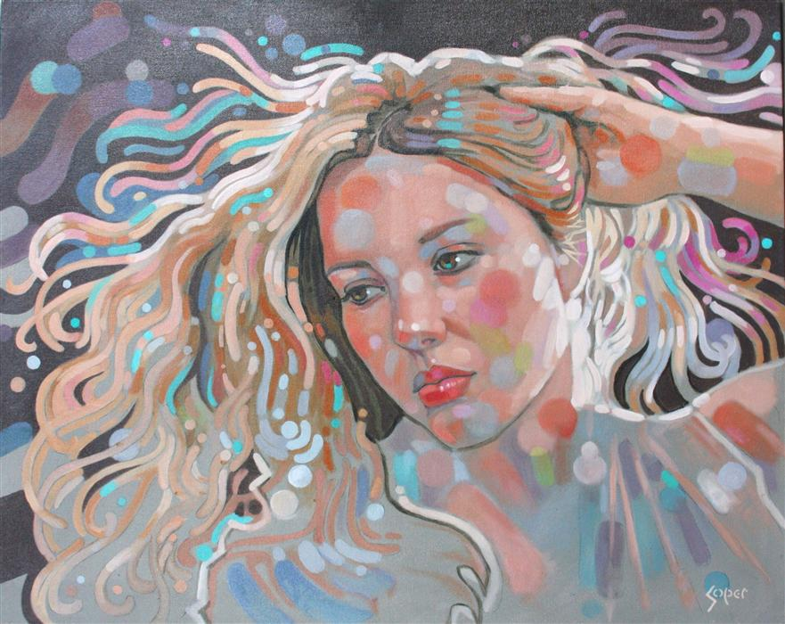 Original art for sale at UGallery.com | Golden Locks by PATRICK SOPER | $2,200 | Oil painting | 24' h x 30' w | ..\art\oil-painting-Golden-Locks