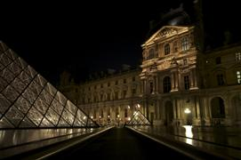 Architecture art,Travel art,Representational art,photography,Midnight at the Louvre