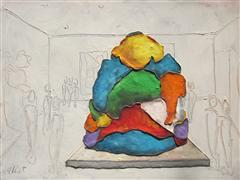 Abstract art,Pop art,acrylic painting,Koons Closing Out Whitney Uptown
