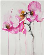 still life art,botanical art,watercolor painting,Orchid Study IX