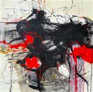Abstract art,Expressionism art,Non-representational art,mixed media artwork,Not a Pale Horse