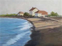 Impressionism art,Seascape art,Representational art,oil painting,Afternoon, Grand Marais