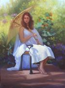 Impressionism art,People art,Classical art,Representational art,oil painting,Marion in the Morning
