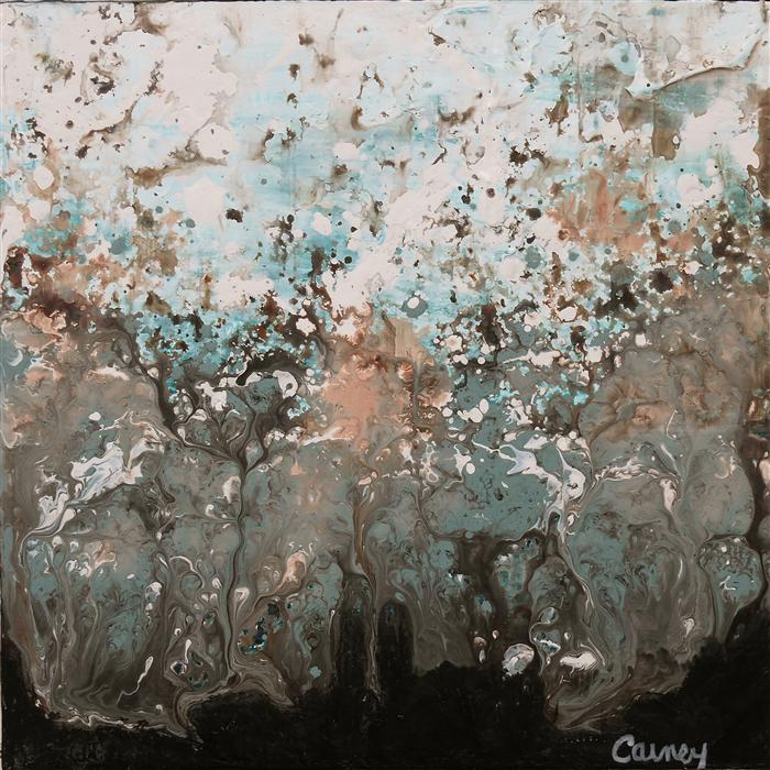 Original art for sale at UGallery.com | GeoFlora 01 by LISA CARNEY | $325 | Acrylic painting | 8' h x 8' w | ..\art\acrylic-painting-GeoFlora-01