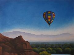 Western art,Travel art,Representational art,acrylic painting,October Morning