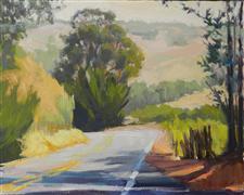 Impressionism art,Travel art,Representational art,oil painting,Road to Pt. Reyes