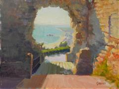 Impressionism art,Seascape art,Travel art,Representational art,oil painting,Portal to Spain