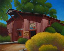 Architecture art,Realism art,Representational art,Vintage art,acrylic painting,The Cider Barn