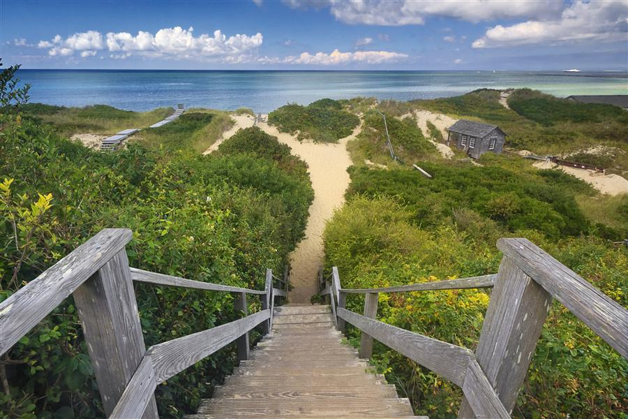 Original art for sale at UGallery.com | Steps to the Beach by Katherine Gendreau | $25 | photography | 36' h x 24' w | ..\art\photography-Steps-to-the-Beach