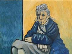 Expressionism art,People art,Representational art,oil painting,Modern Madonna