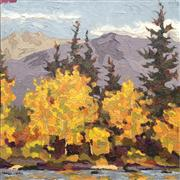 Impressionism art,Landscape art,Representational art,oil painting,Aspen Fall