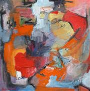 Abstract art,Non-representational art,Modern  art,mixed media artwork,Abstract Figure Studio V
