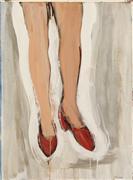 Pop art,Fashion art,Representational art,acrylic painting,Red Shoes