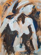 Nudes art,Representational art,acrylic painting,Day Dreams I