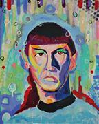 People art,Pop art,Street Art art,Representational art,acrylic painting,Spock