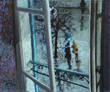 Architecture art,Impressionism art,People art,Non-representational art,acrylic painting,Winter Wind