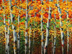 Nature art,Flora art,Representational art,oil painting,Fantastic Autumn