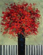 Impressionism art,Still Life art,Flora art,Representational art,oil painting,Red Bouquet