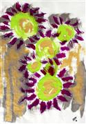 Expressionism art,Flora art,Representational art,ink artwork,Wish Sunflowers Were Purple