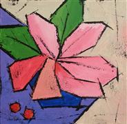 Flora art,Minimalism art,Representational art,acrylic painting,The Orchid