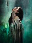People art,Surrealism art,Realism art,Representational art,oil painting,Solitude