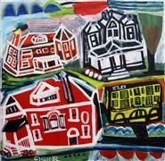 Architecture art,Expressionism art,Representational art,Vintage art,acrylic painting,Superior Ave