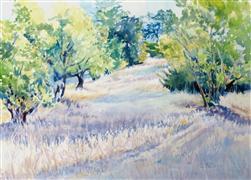 Landscape art,Nature art,Representational art,watercolor painting,Lavender Shadows