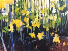 Impressionism art,Nature art,Flora art,Representational art,oil painting,Smith Woods, Autumn 2014