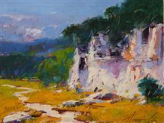 Impressionism art,Landscape art,Nature art,Representational art,oil painting,Autumn Palette