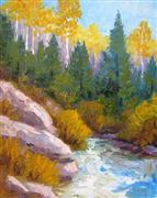Impressionism art,Nature art,Representational art,oil painting,Touch of Autumn