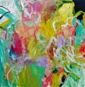 Abstract art,Non-representational art,mixed media artwork,Parkside Watermelon