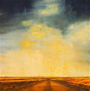 Landscape art,Surrealism art,Western art,Representational art,oil painting,Road Trip VIII