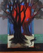 Nature art,Surrealism art,Representational art,acrylic painting,Christmas in Singapore