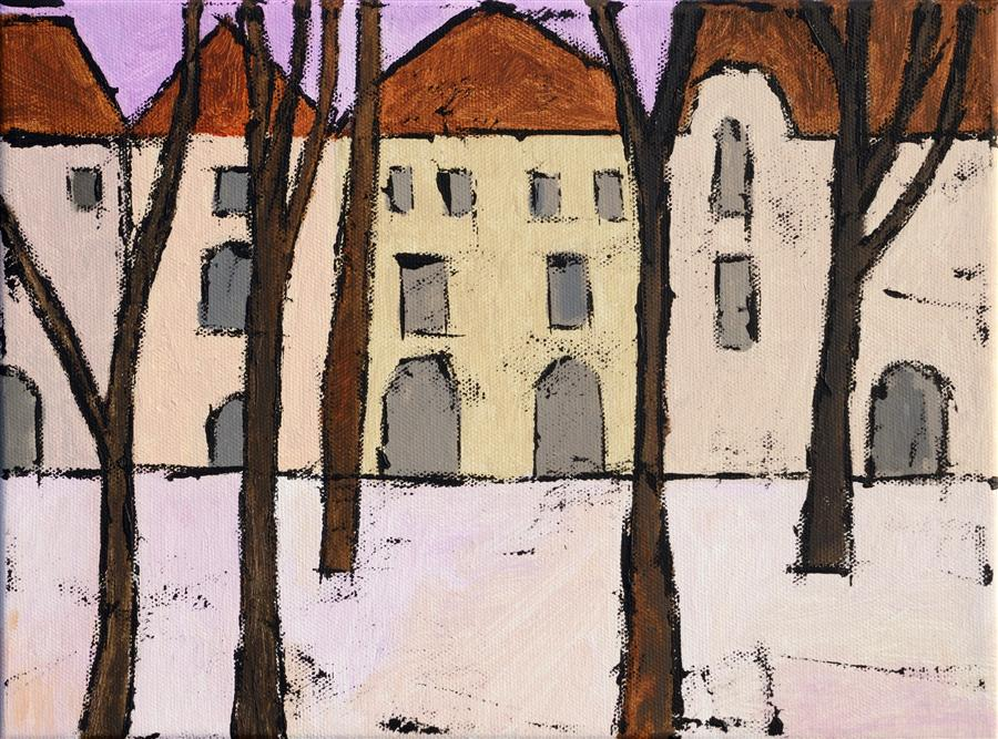 Original art for sale at UGallery.com | Warsaw by TANYA GRABKOVA | $450 |  | 9' h x 12' w | ..\art\acrylic-painting-Warsaw