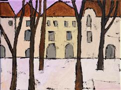 Architecture art,Landscape art,Representational art,acrylic painting,Warsaw