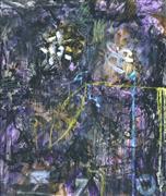 Abstract art,Expressionism art,Non-representational art,mixed media artwork,Purple Landscape