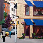 Architecture art,Pop art,Realism art,Representational art,acrylic painting,Psychic, NYC