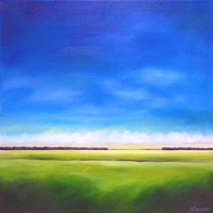 Painting Blue Sky Blue Sky Marsh