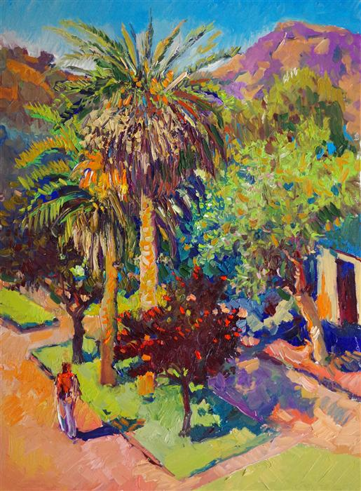 Original art for sale at UGallery.com | Street in Hollywood (Summer) by SUREN NERSISYAN | $975 |  | 24' h x 18' w | ..\art\oil-painting-Street-in-Hollywood-Summer