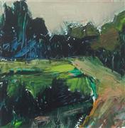 Landscape art,Nature art,Non-representational art,acrylic painting,Path by Subdivision V