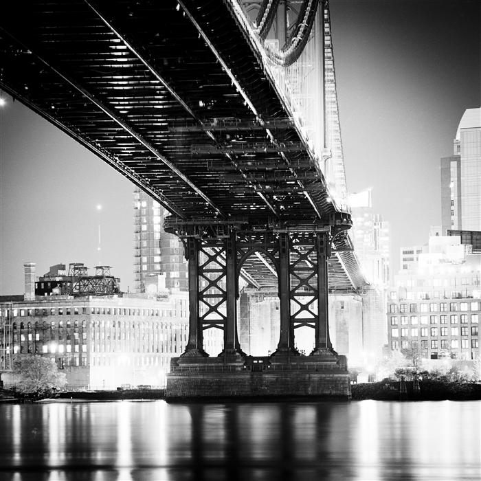 Original art for sale at UGallery.com | Manhattan Bridge by ADAM GARELICK | $160 |  | ' h x ' w | https://www.ugallery.com/ProductDetail.aspx?ProductID=36230
