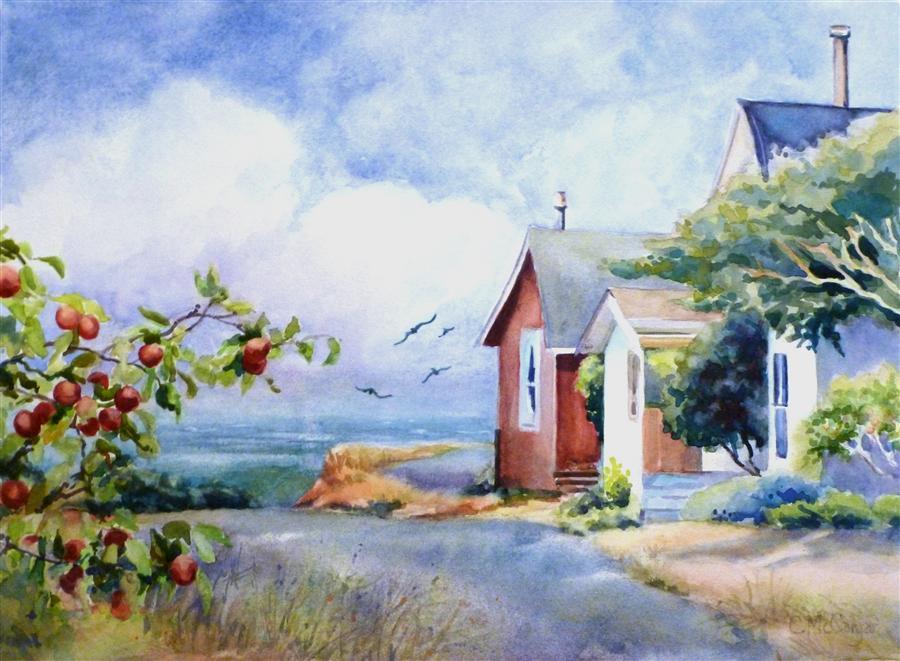 Paintings of Seaside Scenes This Scene Depicts Seaside