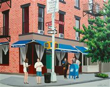 Architecture art,Travel art,Realism art,Representational art,acrylic painting,Magnolia on Bleecker II, NYC