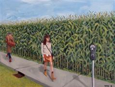 People art,Surrealism art,Representational art,oil painting,Passing