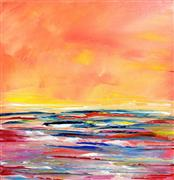 Abstract art,Seascape art,Non-representational art,oil painting,Cinnabar