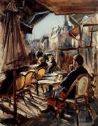 Impressionism art,People art,Travel art,Representational art,oil painting,Afternoon in Trouville