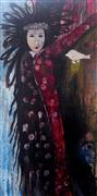 Fantasy art,People art,Representational art,Primitive art,acrylic painting,Secrets of the Geisha